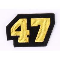 Quality 4 / 7 Pattern Embroidered Letter Patches , Embroidered Number Patches for sale