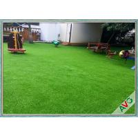 Fire Resistance Outdoor Artificial Grass With Monofil PE + Curled PPE Material