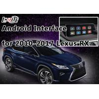 Quality Android Navigation System Lexus Navigation Video Interface support to Play 4K HD Video , Rear Cameras for sale