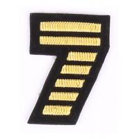 China Bullion Wire Embroidered Letter Patches For T - Shirt , Embroidered Alphabet Patches on sale