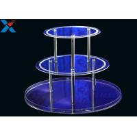 Quality Round 3 Layers Acrylic Display Stands For Wedding Environmental And Recyclable for sale