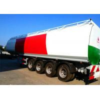 China 4 Axle 60K Liter Diesel Tank Semi Trailer With First Axle Lifting Aire Bag Spring on sale