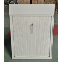 Quality Half Height Tambour Door Filing Cabinet With 2 Adjustable Shelves for sale