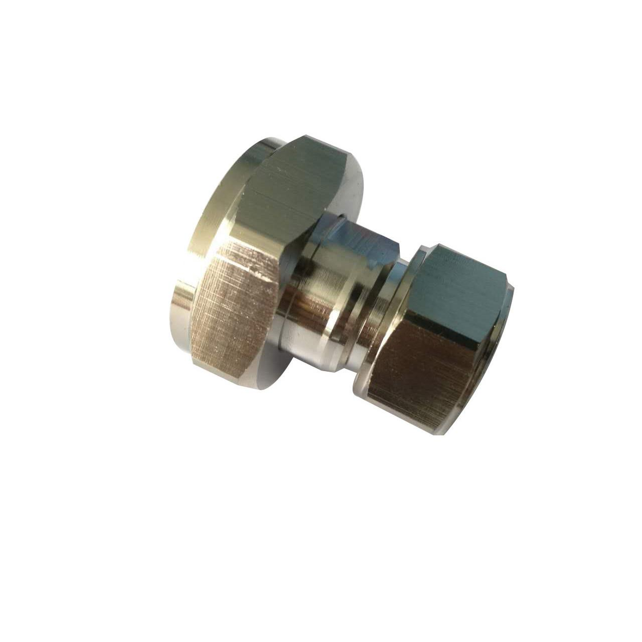 Quality Rf coaxial connector Mini Din 4.3-10 straight male to 7/16 Din Male  Adaptor for sale
