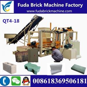 China QT4-18 customized automatic hydraulic concrete block making machine production line on sale