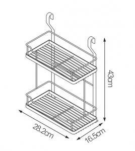 Buy cheap Wall Mounted Storage Rack Shelf Kitchen Wall Shelving Units 28.2 * 16.5 * 43CM product