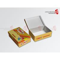 Quality Food Corrugated Cardboard Boxes Color Printed With Hinged Box Structure for sale