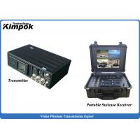Buy cheap Army Microwave Wireless AV Transmitter with Portable Receiver 10W COFDM Wireless Video Link product