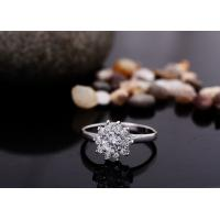 China Multiple Shining CZ Stones Paved Crystal Wedding Rings ,  Cubic  Zircon Bridal Ring For Female on sale