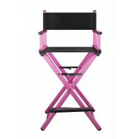 Quality Aluminum Professional Makeup Chair For Salon Light Weight Pink Color for sale