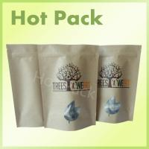 Food Grade Aluminum Foil Packaging Bags With Zip Lock Natural Brown Kraft Paper