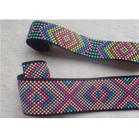 Quality Customized Silicone Dots Jacquard Elastic Band Colorful Printed OEKO SGS BV for sale