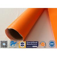 China One Side Orange Fire Blanket silicone coated fiberglass cloth 500GSM 0.5mm Thickness on sale
