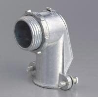Quality 90 Degree Metal Zinc Flexible Conduit And Fittings Squeeze Angle Connectors for sale