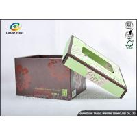 Buy Brown Foldable Cardboard Gift Boxes With Lids Matt Varnish Surface Finishing at wholesale prices