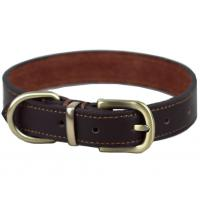 China 3 Colors Option Handmade Dog Leather Leashes , Real Classic Leather Dog Collar on sale