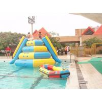 Quality 0.9mm Pvc Inflatable Water Parks Tarpaulin Outdoor  Jumping Tower with 2 Slides for sale