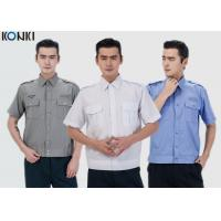 Buy Durable Police And Security Guard Uniform Mens Shirts With Two Pockets at wholesale prices