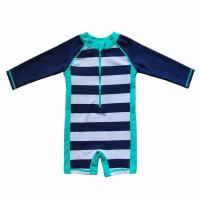 China OEM Baby Beach One - Piece Swimsuit UPF 50+ Sun Protective Sunsuit Neck Zip on sale