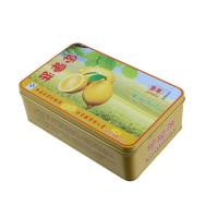 Buy cheap Lemon Cake Tin Box ,CYMK Printed Metal Container Food Graded 0.23mm product