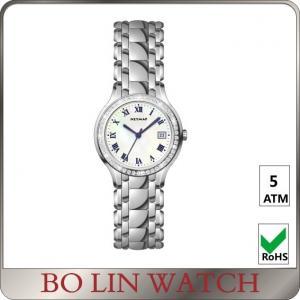 Quality Blue Hands Citizen Day Date Quartz Watch , Diamond Bracelet Watch Imported Movement for sale
