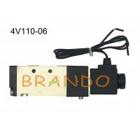 Quality Industrial Air Control 4V100 Series Pneumatic Directional Solenoid Valves 2 Position 5 Way AC DC G1/8
