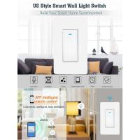 Quality US Standard Push Button Wifi Wall Smart Light Switch 1/2/3 Gang App Remote Voice Control Intelligent Wireless For Google for sale