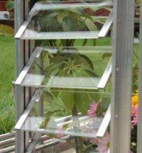 Quality adjustable aluminium side louver ventilation design for greenhouse accessiesHX-L165G for sale