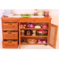 Quality Large Space Indoor Storage Cabinets Kitchen Cabinet Table Customized Size for sale