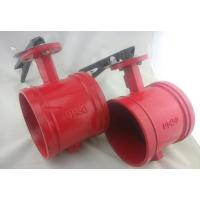 Quality XD381X UL Listed Grooved Butterfly Valve with Tamper Switch and worm gear for sale