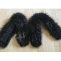 China Raccoon fur collar Colorful Dyed Real Chinese Fox Fur Coat 90 *15cm for Down Coat on sale