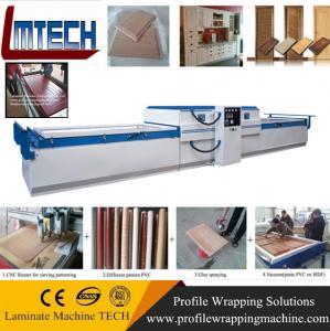 China quality kitchen cabinets plywood carcase vacuum membrane press machine on sale