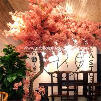 Fiberglass , Wood Material Artificial Blossom Tree For Office Buildings for sale