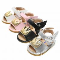 China 2019 PU Leather angel wings Crown shoes Newborn toddler baby sandals on sale