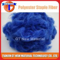 Quality Blue Color Recycled Polyester Staple Fiber, Dope Dyed RPSF for Nonwoven / Spinning 1.5D-15D for sale