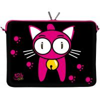 Quality 11.6 Inch Chloroprene Rubber Laptop Sleeve with Zipper , Fancy Kitty to Go Designer for sale