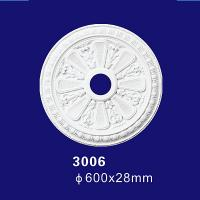 Quality 3006 PU Ceiling Decoration Roof Medallion For Home Interior Decor for sale
