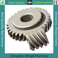 Quality Bevel Gear Assembly Custom Bevel Gear Worm Gear Sets With C45 Materials for sale