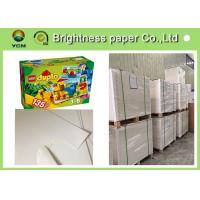 Buy cheap One Side Coated White Cardboard Sheets For Packaging Boxes Eco Friendly from wholesalers