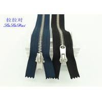 Quality Normal Type 8# Antique Silver Closed End Zip Polyester Tape For Washed Pants And Jeans for sale