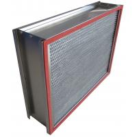 Quality H13 SUS Frame Deep Pleated High Temp Hepa Filter 0.3um Particulate for sale