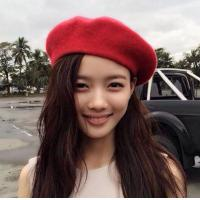 Quality Autumn and winter wool woolen beret hat cartoon hat Japanese tide octagonal hat knit biscuits hat female Korean version for sale