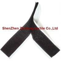 Quality Die-cutting black adhesive Velcro hook and loop strips for sale