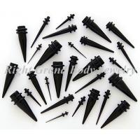 Quality Mini UV Acrylic Black Ear Stretchers Tapers 19mm 0 Gaguge For Boy for sale