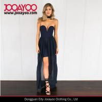 Quality Strapless Heart Wrap Navy Sexy Maxi Evening Dress New Dress Designs for sale