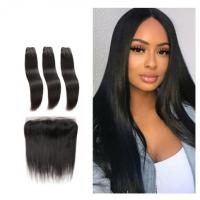 Silky Straight Front Virgin Human Hair Extensions Bundles Double Weft Long Hair