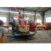 Indoor / Outdoor Teacup Amusement Ride With Under Base And Transmission System