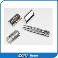 Quality Zink Alloy Silver Mens Single Blade Razor OEM Accept Gift Box Or Blister Packing for sale