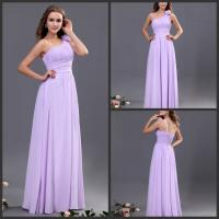 Quality Light Purple Bridesmaid Wedding Dresses / Pleated Bridesmaid Ball Gowns for sale