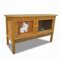 Buy cheap Rabbit Hutch with Legs, Measuring 93 x 39 x 60cm, Constructed of Kiln-dried Fir Wood product
